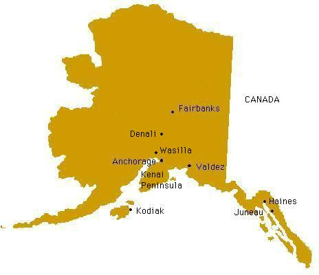 Alaska Map For Lodging And Activity Reservations  Alaska