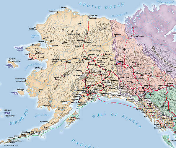 Alaska Tourist – Alaska Travel Map