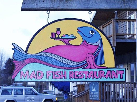 Friday night menu for Mad fish restaurant