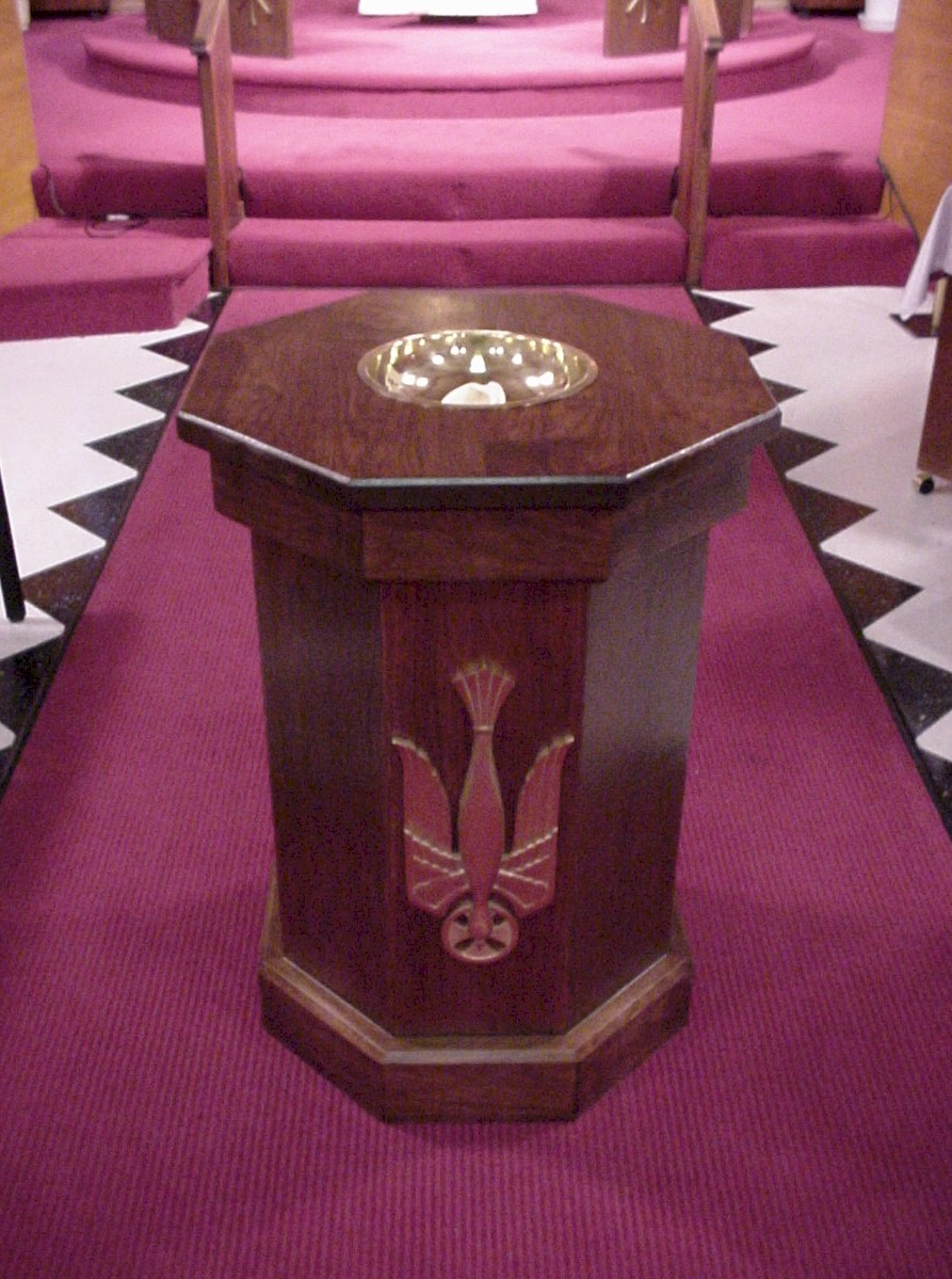 Baptismal Font At St Mark Lutheran Church