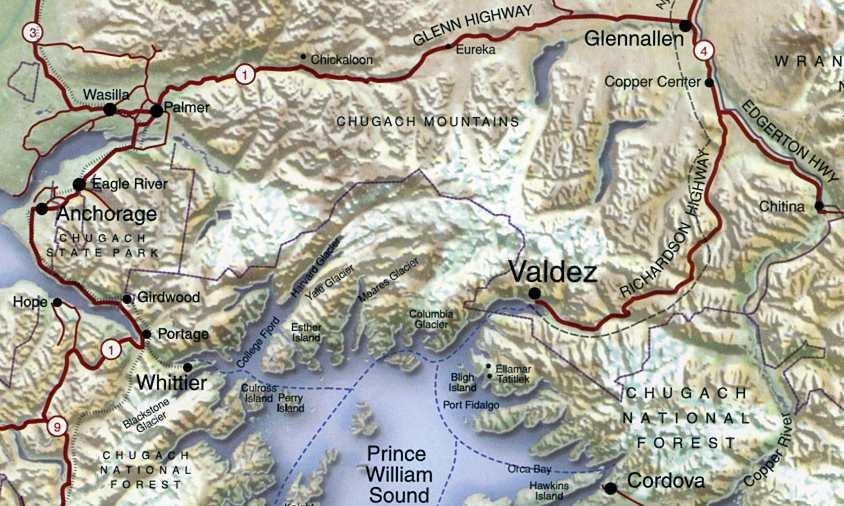 Valdez Alaska Map Valdez Alaska Map