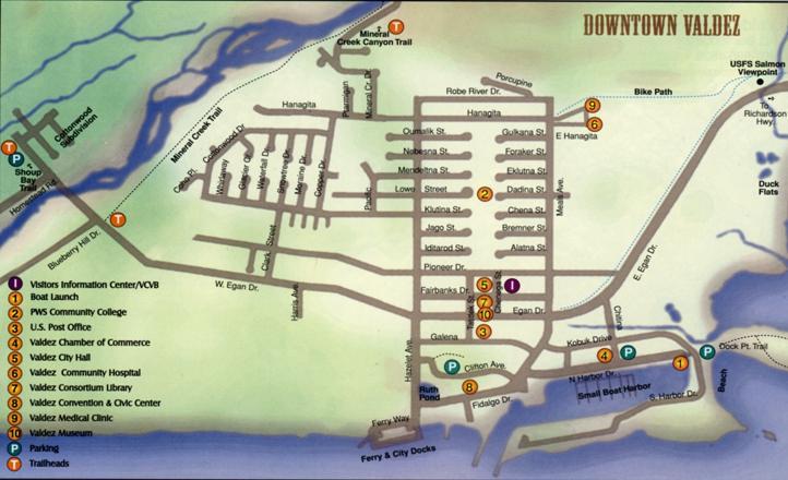 Valdez Alaska Map Related Keywords Amp Suggestions  Valdez
